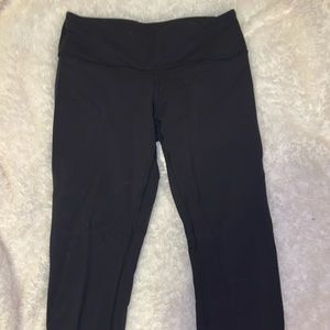 "Cropped 19"" black lululemon leggings"